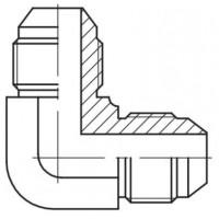Адаптер кутовий 90° зовнішня різьба JIC - JIC, J W