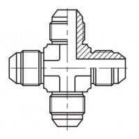 Адаптер хрестовина зовнішня різьба JIC - JIC, J K