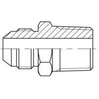 Адаптер прямий зовнішня різьба JIC - NPTF, J GE-N