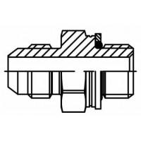 Адаптер прямий зовнішня різьба JIC - М (метрична), J GE-M