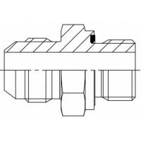 Адаптер прямий зовнішня різьба JIC - BSP (ED -ущільнення), J GE-G ED