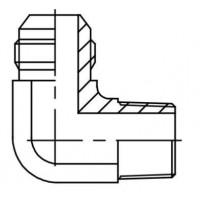 Адаптер кутовий 90° зовнішня різьба JIC - NPTF, J WE-N
