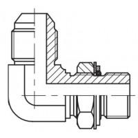 Адаптер кутовий 90° регульований зовнішнє різьблення JIC - BSP, J WE-G