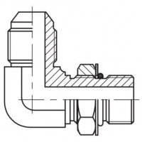 Адаптер кутовий 90° регульований зовнішнє різьблення JIC - UNF, J WE-U