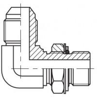 Адаптер кутовий 90° регульований зовнішнє різьблення JIC - М (метрична), J WE-M