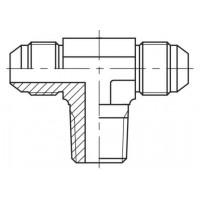 Адаптер трійник зовнішнє різьблення JIC - NPTF - JIC, J TE-N