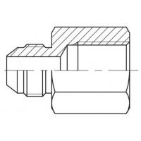 Адаптер прямий зовнішня різьба JIC - BSP внутрішня, J GAI-G