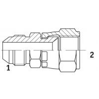 Адаптер прямий зовнішня різьба JIC - JIC внутрішня, J GI