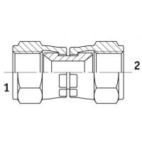 Адаптер прямий внутрішнє різьблення JIC - JIC, J GIІ