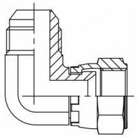 Адаптер кутовий 90° зовнішня різьба JIC - JIC внутрішня, J EVW