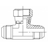 Адаптер трійник зовнішнє різьблення JIC - JIC внутрішня - JIC зовнішня, J EVT