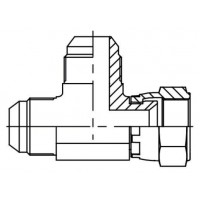 Адаптер трійник зовнішнє різьблення JIC - JIC - JIC внутрішня, J EVL