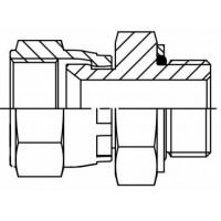 Адаптер прямий внутрішнє різьблення JIC - BSP в корпус, J EVGE-G