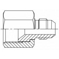 Адаптер прямий редукційний внутрішнє різьблення JIC - JIC зовнішня, J KOR