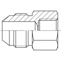 Адаптер для манометра прямий різьблення зовнішня JIC - BSP внутрішня, J MAV