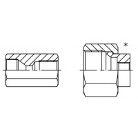 Адаптер для манометра прямий різьба внутрішня JIC - BSP внутрішня, J MA