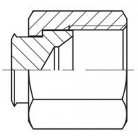 Пробка (заглушка) гайка внутрішнє різьблення JIC, J PLI
