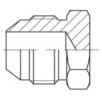 Пробка (заглушка) штуцер зовнішнє різьблення JIC, J PLU