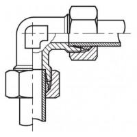 Адаптер угловой 90° (спасатель) соединительный LL - LL, W LL