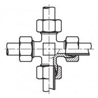 Адаптер крестовина (спасатель) соединительный LL - LL, К LL