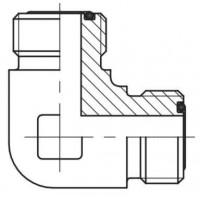 Адаптер кутовий 90° зовнішня різьба ORFS - ORFS