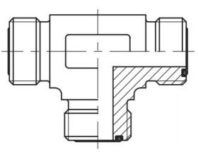 Адаптер тройник наружная резьба ORFS - ORFS