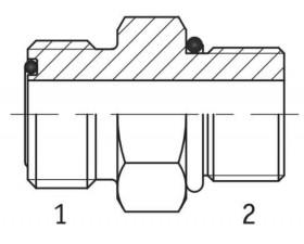 Адаптер прямий зовнішня різьба ORFS - UNF в корпус