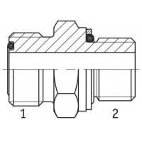Адаптер прямий зовнішня різьба ORFS - М (метрична) в корпус