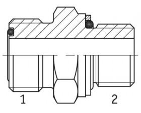 Адаптер прямой наружная резьба ORFS - М (метрическая) в корпус