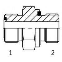 Адаптер прямий зовнішня різьба ORFS - G BSP в корпус