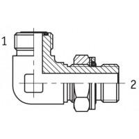 Адаптер кутовий 90° регульований зовнішня різьба ORFS - G BSP в корпус