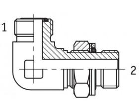 Адаптер угловой 90° настраиваемый наружная резьба ORFS - G BSP в корпус