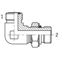 Адаптер кутовий 90° регульований зовнішня різьба ORFS - SAE O в корпус