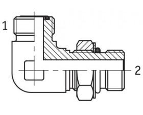 Адаптер угловой 90° настраиваемый наружная резьба ORFS - SAE O в корпус