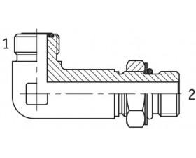 Адаптер угловой 90° удлиненный  настраиваемый наружная резьба ORFS - SAE O в корпус