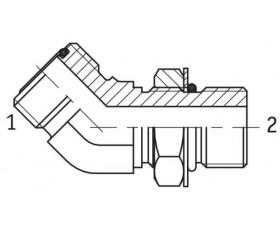 Адаптер угловой 45° настраиваемый наружная резьба ORFS - SAE O в корпус
