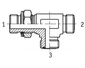 Адаптер трійник регульований зовнішня різьба G BSP в корпус - ORFS - ORFS