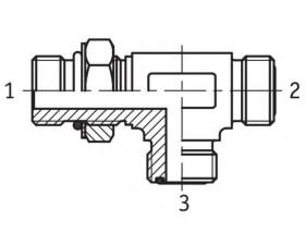 Адаптер тройник настраиваемый наружная резьба SAE O в корпус - ORFS - ORFS