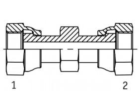 Адаптер соединительный прямой внутренняя резьба ORFS - ORFS