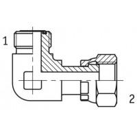 Адаптер кутовий 90° зовнішня/внутрішня різьба ORFS - ORFS