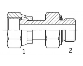 Адаптер прямий внутрішня різьба ORFS - G BSP в корпус