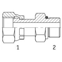 Адаптер прямий внутрішня різьба ORFS - SAE O в корпус
