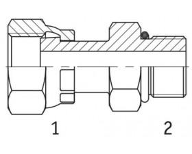 Адаптер прямой внутренняя резьба ORFS - SAE O в корпус