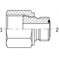 Адаптер редукційний внутрішня/зовнішня різьба ORFS - ORFS