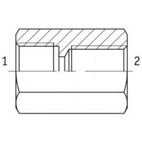 Адаптер під манометр внутрішня різьба ORFS - G BSP