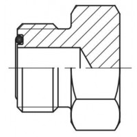 Адаптер пробка (заглушка) зовнішня різьба ORFS