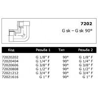 Адаптер G F X G F 90°