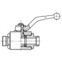 Кульовий кран SKL високого тиску, 2-ходовий, зовнішня різьба CEL (Метрична)