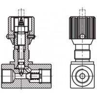 Дросель гідравлічний із зворотнім клапаном, внутрішнє різьблення G (BSP)