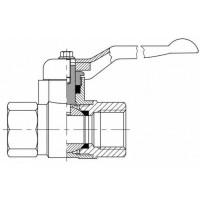 Кульовий кран низького тиску, 2-ходовий, внутрішнє різьблення G (BSP)